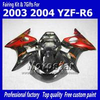 Wholesale Quality Custom Painting - Custom paint ! bodywork set for YZF600 03 04 YAMAHA YZF-R6 03 04 YZFR6 high quality fairing body kits YZF R6 2003 2004