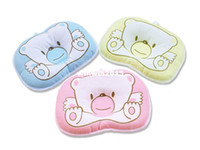 Wholesale Baby Beans Pillow - Infant Baby Bear Pillow neck support Preventing Flat Head Syndrome 2 pcs lot