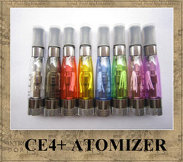 Wholesale E Cig Ce4 Wicks - CE4+ Atomizer eGo Clearomizer 1.6ml vapor tank Electronic Cigarette replacemet core wick for e-cig eGo battery 8 colors DHL shipping