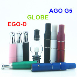 $enCountryForm.capitalKeyWord Canada - Ago G5 dry herb wax vaporizer electronic cigarette atomizer tank with Ego d and Glass Globe Bulbr fit for ego evod ago e cigarette battery