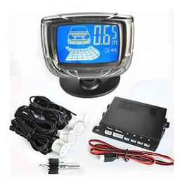 Wholesale Quattro Cars - 4 Radar backup System With Adjustable Sound System 12V Car Parking Sensor Liquid Crystal Display Free shipping