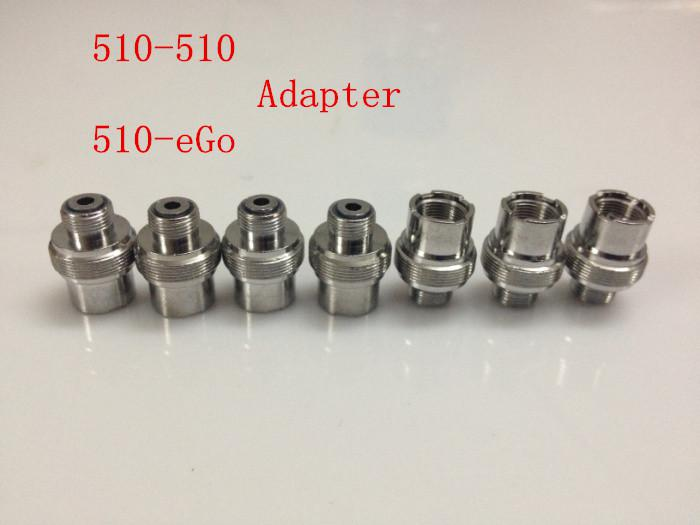 Metal Ecigs eGo Adaptor 510 to 510 Adapter Extender 510-510 eGo-510 Adaptor Connector for 510 Threading Electronic Cigarette