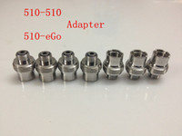 Wholesale Ego Cigarette Adapter - Metal Ecigs eGo Adaptor 510 to 510 Adapter Extender 510-510 eGo-510 Adaptor Connector for 510 Threading Electronic Cigarette