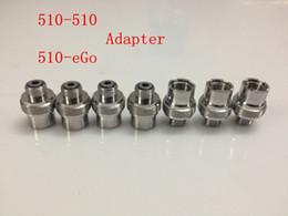 connector electronics 2019 - Metal Ecigs eGo Adaptor 510 to 510 Adapter Extender 510-510 eGo-510 Adaptor Connector for 510 Threading Electronic Cigar
