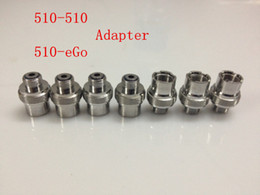 Metal Ecigs eGo Adapter 510 to 510 Adaptador Extender 510-510 eGo-510 Adaptador Conector para 510 Threading Cigarro eletrônico