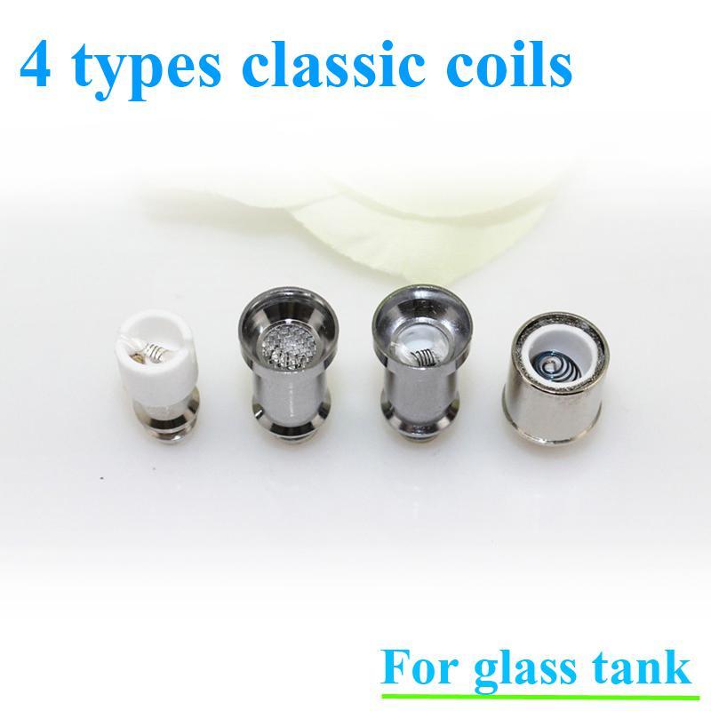 Glass atomizer 12 types dual ceramic rebuildable atomizer coils for wax dry herb vaporizer pen herbal vaporizer vapor e cigarette cores