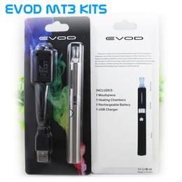 Wholesale Evod Kit Bcc - Top quality eVod BCC MT3 Starter Blister kits pack Electronic Cigarette kits mt3 Rechargable atomizer eVod Battery 650mah 900mah 1100mah DHL