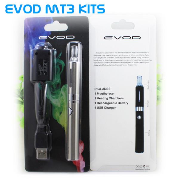 Top qualität Evod BCC MT3 Starter Blister kits pack Elektronische Zigarette kits mt3 Wiederaufladbare zerstäuber eVod Batterie 650 mah 900 mah 1100 mah DHL