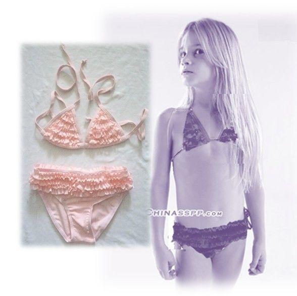Acquista baby ragazze in bikini costumi da bagno bambini in costume da bagno diviso in legno - Costumi da bagno ragazza ...