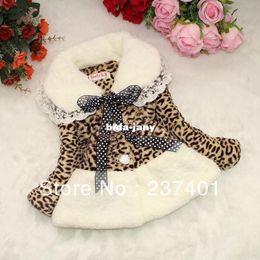 Wholesale Cute Toddler Girl Coats - Retail Classic Baby Toddler Faux Fur Leopard Coat Girls Jacket Snowsuit Children outerwear Winter Warm wear Clothes dress style