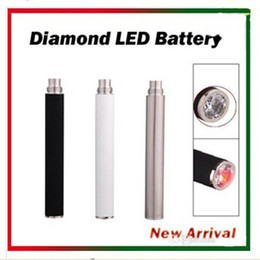 Wholesale Electronic Cigarette Ego Crystal - eGo Automatic Battery with Bottom Crystal Diamond LED 650mAh 900mAh 1100mAh E Cig Battery for EGO 510 Thread Atomizers CE4 CE5 CE6 VIVI NOVA