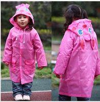 Wholesale Children Rainwear - new arrival 5 colors for choose Animal-shaped Raincoat Children's Raincoat Kids Rain Coat Children's rainwear for children