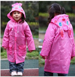 Wholesale Umbrella Blue Red - new arrival 5 colors for choose Animal-shaped Raincoat Children's Raincoat Kids Rain Coat Children's rainwear for children