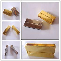 Wholesale Brazilian Style Hipanema - 50PCS LOT Charm Brazilian Style Antique Silver   Gold Tone Square Magnetic Clasp for Making Hipanema Bracelet Jewelry Findings