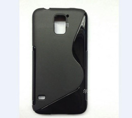 Wholesale S Line Case Galaxy - New Arrival S-Line Soft TPU Rubber Gel Case Skin Cover Shell for Samsung Galaxy S5 i9600 Perfect Fit Mix Color air post with tracking