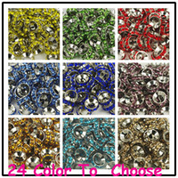 Wholesale Cheap Crystal Cross Wholesale - Cheap!Mixed Color Rhinestone Crystal Rondelle Spacer Beads,Rhodium Plated Big Hole European Bead for bracelet hotsale DIY Findings Jewelry