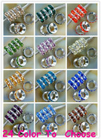 Wholesale Rhinestone Animal Spacer Beads - best!Mixed Color Rhinestone Crystal Rondelle Spacer Beads,Rhodium Plated Big Hole European Bead for bracelet hotsale DIY Findings Jewelry