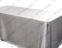 """Wholesale Rectangle Banquet Tables - Free Shipping 6-Colors Trestle Table Cloth Satin European Wedding Banquet Hotel Tablecloth 90""""*132"""" Rectangle Table Cover"""