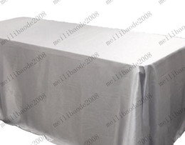 """table cloth colors 2019 - Free Shipping 6-Colors Trestle Table Cloth Satin European Wedding Banquet Hotel Tablecloth 90""""*132"""" Rectangle"""