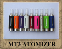 Wholesale Evod Bcc Free Dhl - MT3 EVOD ATOMIZER EGO CLEAROMIZER COLORFUL CARTOMIZER BCC ECVV ELECTRONIC CIGARETTE MATH WITH EGO TWIST BATTER E-Cig free DHL