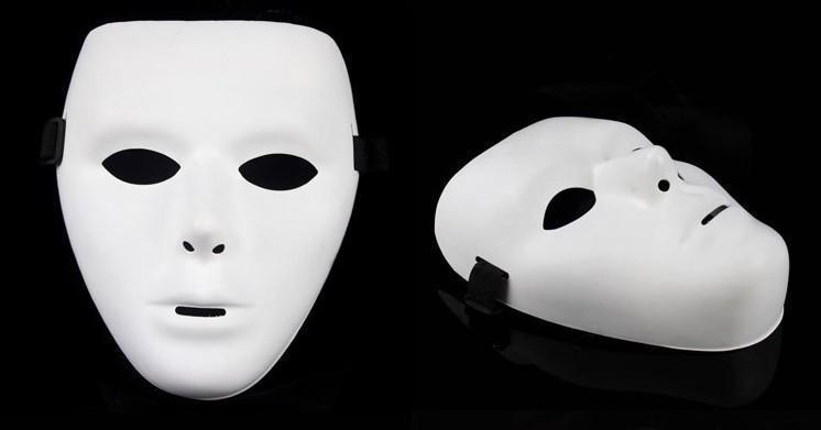 jabbawockeez mask dance mask PVC pure white mask masquerade party masks halloween masks hip-hop male and female masks DIY mask 400pcs/lot