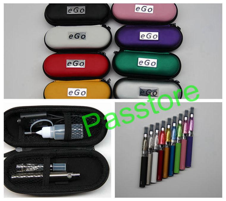 CE4 eGo Starter Kit E-Cig Electronic Cigarette Zipper Case package Single Kit 650mah 900mah 1100mah DHL from Passtore