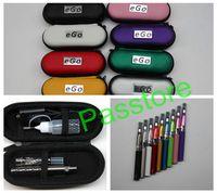 e cig ego dhl venda por atacado-CE4 eGo Starter Kit E-Cig Cigarro Eletrônico Zipper Caso pacote Único Kit 650 mah 900 mah 1100 mah DHL de Passtore