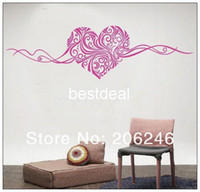 Wholesale Art Deco Wall Stickers - Heart wild vines Vine Wall Bedroom Decor Vinyl Stickers Decal Removable Art Mural Home Deco DIY PVC
