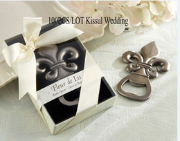 "$enCountryForm.capitalKeyWord Canada - Wedding decoration gift of ""Fleur de Lis"" Pewter-Finish Bottle Opener wedding favors and Party Gifts 100pcs lot Express Free shipping"