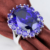 Wholesale Hot Rollers Set - Real Solitaire Ring Cone Rodamiento Roller Tapered Bearing Hot Sale Solitaire Fire Natural Purple Zircon Handmade Charming Rings R0472