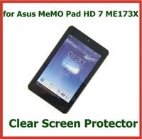 Wholesale Me173x Screen Protector - 200pcs Customized Transparent Clear Screen Protector for Asus MeMO Pad HD 7 ME173X 7 inch Tablet Protective Guard Film with Retail Package