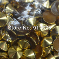 Wholesale Silver Studs For Clothing - Promotion 6*6mm mixed color 400pcs BAG Cone Metal Studs Gold Silver Gunmetal Bronze, rivets and spike studs for CLOTHING