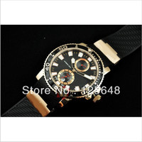 Wholesale New Box Maxi Marine - Factory Seller Luxury New In Box Maxi Marine Black Mens Automatic mechanical Watch Stainless Rose gold Men's Sports WristWatches