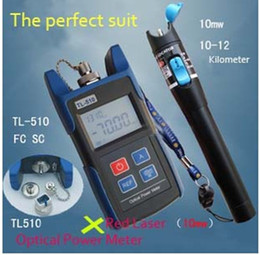 Wholesale Power Cable Tester - Big Discount ! TL510A -70~+10 Optical Power Meter with FC SC ST Connector +TL532 Red Laser Fiber Optic Cable Tester (10-12km) Free Shipping