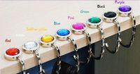 Wholesale Folding Purse Hook Hanger - Rhinestone Folding Bag Purse Hook Crystal Handbag Hanger Holder On Table Brand New