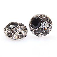 anéis de cristal de ródio venda por atacado-Antiqued Pewter Cristal Snap Button Chunk Encantos Para Noosa Pulseiras e Jóias, se encaixa noosa pulseira / anéis, GINGERSNAPS, ródio banhado