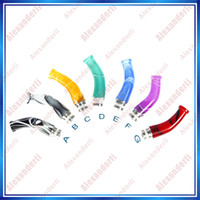 Wholesale Ego Ce5 Adapter - 510 Acrylic Drip Tip Crook Shape Acrylic drip tip Adapter EGO CE4 CE5 CE6 Atomizers For EGO T EGO VV Battery Electronic Cigarette Mouthpiece