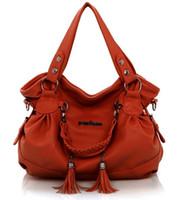 Wholesale One Shoulder Tote - Hot Female bag fashion tassel handbags Fold one shoulder bag