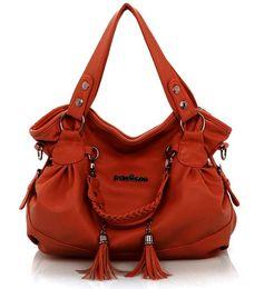 Wholesale Coffee One - Hot Female bag fashion tassel handbags Fold one shoulder bag