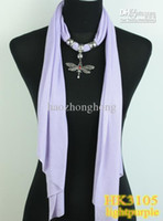 Wholesale Cross Scarfs Wholesale - Scarf Rushed Grey Beige White Pink Necklace Jewelry Pendant 2015 New Scarves Silver Dragonfly Soft Fabric 20 Colors free Shipping Hk3105