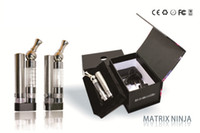 Wholesale Electronic Cigarette Box Set - 2014 New GS-Matrix Ninja Electronic cigarette Clearomizer with rotatable stainless drip tip e-cigarette with gift box pack