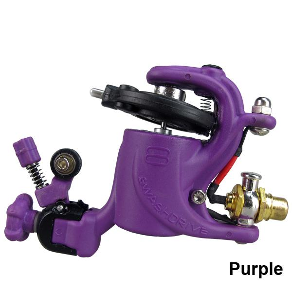 Purple Swashdrive Gen Style Rotary Tattoo Machine Gun Shader Liner available For Tattoo Needle Ink Cup Tips Kits