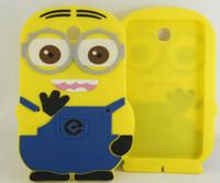Wholesale Despicable Minion Inches - 3D Despicable Me Minion cartoon soft silicon Case back Cover For Samsung Galaxy Tab 3 P3200 7.0 inch Despicable Me case