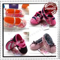 Wholesale Hot Pink Infant Shoes - Hot sales New Spring Baby Shoes infant first walker shoes baby toddle kids shoes soft bottom prewalker shoes Girls shoes Retail+Wholesale