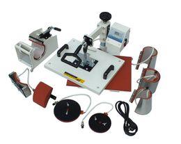 Wholesale Tshirt Transfer Press - 110V,220V Plate Mug Cap TShirt heat press,heat transfer machine,Sublimation machine,mini digital 8 In 1 Combo Heat Press Machine