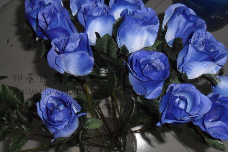 20 sztuk 38 cm Czerwony / Różowy / Kremowy / Szampan / Niebieski Jedwab Sztuczne Kwiat Pojedynczy Na Sztuce Rose Kwiaty do Wesele Dekoracji domu