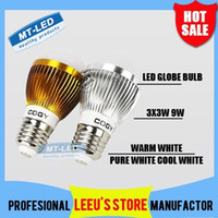 Wholesale Cree Led Light Bulbs Sale - Retail sales FREE SHIPPING High power Cree 9W Led globe Bulb E27 E14 GU10 B22 85-265V LED Bubble ball lamp led light lighting spotlight