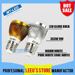 Wholesale E27 Led Bubble Bulb - Retail sales FREE SHIPPING High power Cree 9W Led globe Bulb E27 E14 GU10 B22 85-265V LED Bubble ball lamp led light lighting spotlight