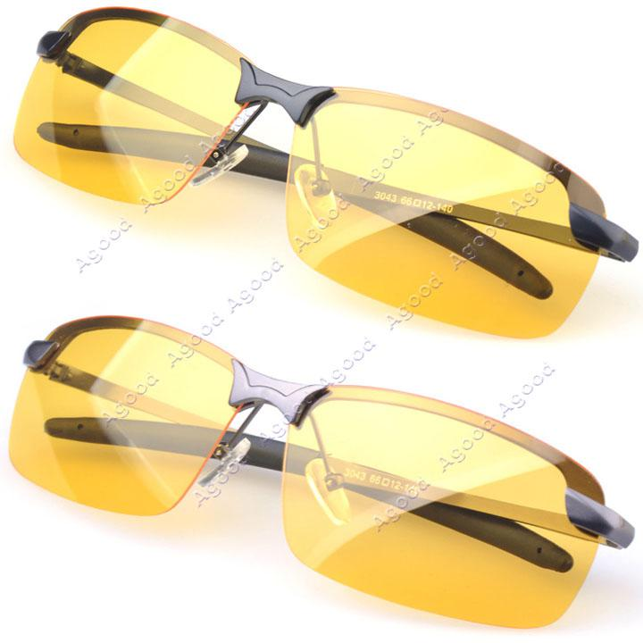Men's Polarized Driving Sunglasses Yellow Lens Night Vision Driving Glasses Goggles Reduce Glare pDppB
