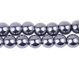 Wholesale Hematite Cross Bracelet - 10mm Fasion Silver Hematite Loose ball Beads Shamballa Findings Fit DIY Bracelet Bead for bracelet hotsale DIY Findings Jewelry